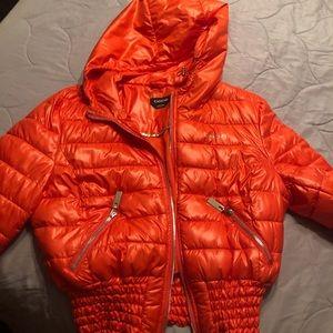 Fluffy Bebe orange jacket
